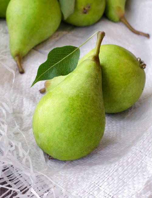 Healthy organic green pears