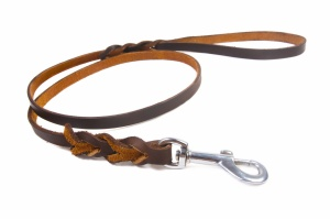 Dog leather leash